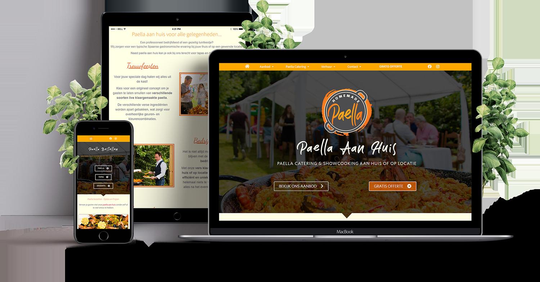 HomeMade Paella website design