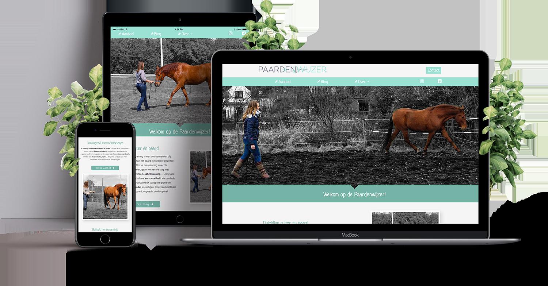 website design voor paardeninstructrice